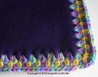 crocheted edge on fleece
