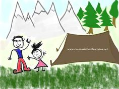 Cuento del niño y el bosque - check out the whole site, not just this story.  Cuentos cortos.  Perfectos para español 2:  miles ejemplos del preterito y el imperfecto.