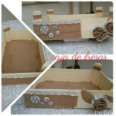 Caja de fruta forrada con papel de scrap cajas de fruta - Forrar cajas de carton con telas ...