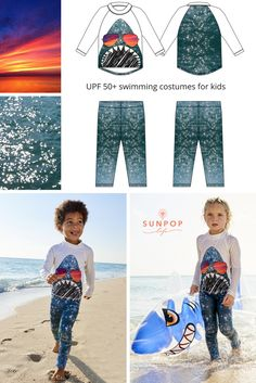 Two photos, some illustration and a bit of imagination brought this shark to life.  Your kid will have so much fun turning heads around when wearing this cool shark swimming costume. Unisex styling and UPF 50+ sun protection.  Sun Pop Life, sun protection your kids will actually want to wear.  Sunset, ocean and lifestyle photography by Greg Hinsdale