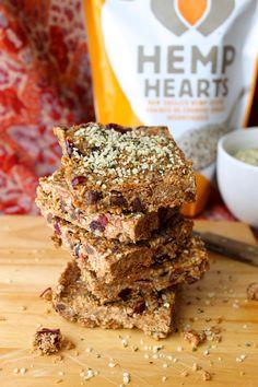 Toasted Coconut Hemp Bars - The Pure Life Healthy Dessert Recipes, No Bake Desserts, Paleo Recipes, Hemp Seed Recipes, Hemp Recipe, Hemp Hearts, On The Go Snacks, Gluten Free Chocolate, Toasted Coconut