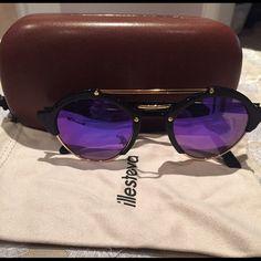 Illesteva sunglasses Barely worn illesteva sunglasses with purple lenses. Comes with duster and case. Illesteva Accessories Sunglasses