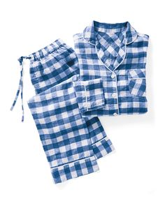 Stay Cool, Gingham, Pajamas, Mother Of Pearl Buttons, Gift Guide, Elastic Waist, Long Sleeve Tops, Pjs, Pajama