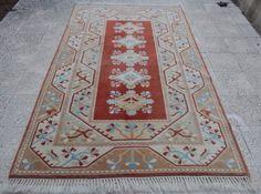 5x8 Vintage Turkish Rug Nomadic Milas Melas Carpet 5'1''x7'9'' Wool Floor Rug | eBay