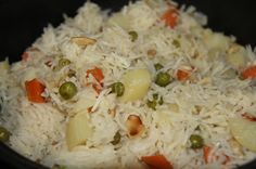 Basic vegetable pulao with coconut milk