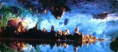 中国最大級の鍾乳洞 蘆笛岩