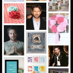Really, Pinterest? Gerard Butler is arts and crafts? How am I supposed to do crafts with this in my married face? Lol