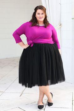 Plus Size Clothing for Women - Society+ Premium Tutu - Black - Society+ - Society Plus - Buy Online Now! - 2