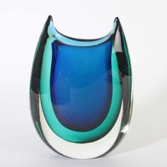 Vase Cenedese Murano Glas ca. Fused Glass, Glass Vase, Blown Glass Art, Venetian Glass, Contemporary Ceramics, Glass Design, Vases, Sculptures, Gemstone Rings