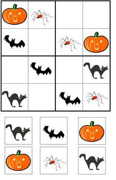 Sudoku Halloween pour les petits