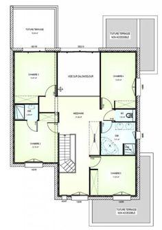 Elegant Plan Achat Maison Neuve à Construire   Maisons Bernard Jambert Avant Projet  185m² à Doué