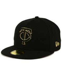 New Era Minnesota Twins Black On Metallic Gold 59FIFTY Fitted Cap - Black 7