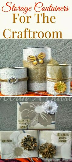 Recycle old cans and cardboard boxes and make these lovely Containers ! #Recycling #Storage #Organizing