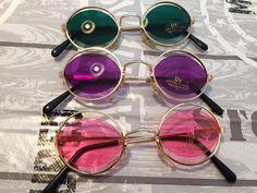 3 Sonnenbrillen im 70s Style Stil bunt Hippie Goa Brille Retro rund 70er Party 2