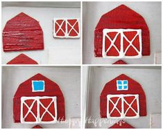 Graham cracker houses don't just have to be for the holidays. You can have fun making this Graham Cracker Barn any time of year. Farm Animal Cakes, Farm Animals, Cake Decorating Techniques, Decorating Cakes, Decorating Tips, Graham Cracker House, Barn Cake, Royal Icing Flowers, Chocolate Bowls