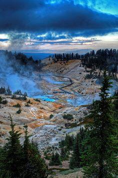 Bumpass Hell overlook, Lassen National Park, Redding, CA Photo by Brian Rueb