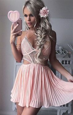 Cheap homecoming dresses 2018,A Line Prom Dress,Short Prom