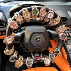 "4,889 lượt thích, 210 bình luận - Luxury Watches (@crmjewelers) trên Instagram: ""New steering lock Custom built just for my Lambo Gotta lot of time on my hands """