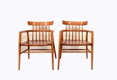 Paul McCobb Captains Chairs  Maple 1950s Mid by HearthsideHome, $849.00