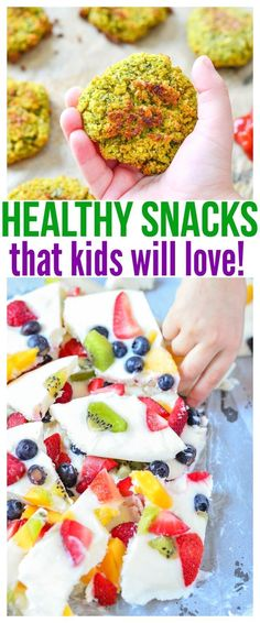 Whether you're looking for healthy snacks for kids on the go or healthy snacks for picky eaters at home, we have a ton of fun kid friendly recipes in this food round up that will definitely get praise from parents and kiddos! Healthy Bedtime Snacks, Healthy Kids, Healthy Snacks For Kids On The Go, Healthy Lunches, Dinner Healthy, Kid Friendly Healthy Breakfast, Healthy Dishes, Healthy Salads, Mini Quiches