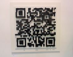 Lego art which doubles as a QR code linking to the artist's website ... try it out, it works!