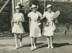 tennis outfit 1940 | 1940s(?) ladies tennis fashions