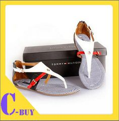 Free Shipping 2014  cowhide flip back zipper color block decoration genuine leather flat sandals stripe sandals US $26.99 - 32.99