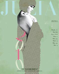 Setcard / magazine cover mock-up