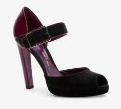 Sergio Rossi Purple And Black Pump//