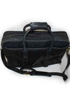 Vintage Mens Coach Bag Black Leather Laptop by DieVoltVintage