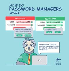Maybe we should listen to sloth and download a password manager..  Let us know which password manager you use! Read more about benefits of using one: http://www.rit.edu/security/content/benefits-using-password-manager Password Manager, Security Tips, Sloth, Benefit, Sloth Animal, Sloths