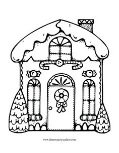 Christmas Gingerbread House Coloring Page From Category Select 30459 Printable Crafts Of Cartoons Nature Animals