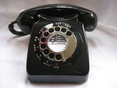 Retro Vintage GPO / BT  Black Chrome Dial 746 telephone