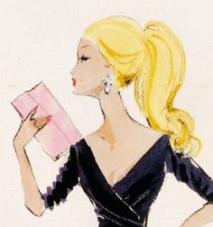 Barbie Midnight Mischief: Robert Best Fashion Illustration.