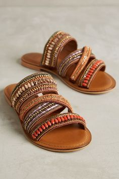 Boho Beaded Sandals ~Pinterest~ casssiiieee000