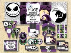 The Nightmare Before Christmas Party Decorations   Google Search