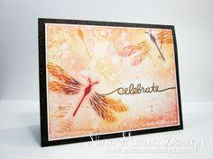 Textured Dragonflies -Nina-Marie Design #papersmooches