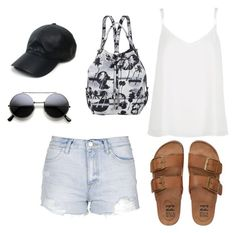 """""""summer outfit"""" by alexa-barnes on Polyvore featuring River Island, Opening Ceremony, Topshop, Billabong, Vianel, women's clothing, women's fashion, women, female and woman"""
