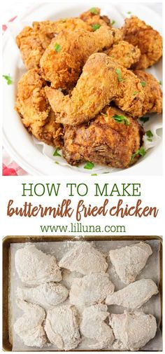 You can't go wrong with delicious buttermilk fried chicken! It's great for picnics, barbecues, holidays and more. Plus - it's easier to make than you think! Fried Chicken Legs, Chicken Milk, Making Fried Chicken, Baked Chicken, Crispy Fried Chicken, Chicken Gravy, Chicken Curry, Keto Chicken, Rotisserie Chicken