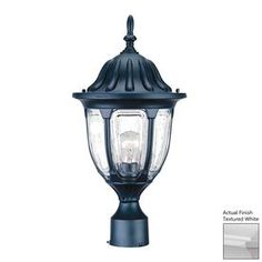Lowes $57 Acclaim Lighting Suffolk 19-in H Textured White Post Light