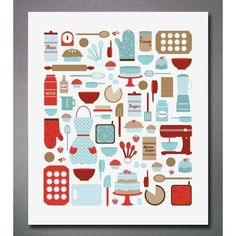 Vintage baking printables/clipart