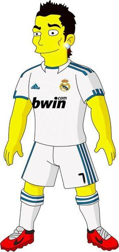 Cristiano Ronaldo Simpsonized