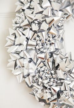 New Years Wreath - add gold and/or black streamers, classy party blowers and other New Years Eve traditions