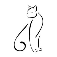 Abstract cat outline
