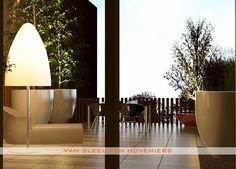 3D ontwerp dakterras - Van Sleeuwen Hoveniers - Met deze hippe verlichting is het s' avonds echt lang genieten!