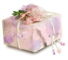 """""""Floral decorated box"""" by pepitarita ❤ liked on Polyvore featuring art"""