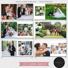 12X12 inches PSD 40 pages Wedding Album Template by KamburDesign