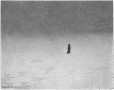 Theodor Kittlesen, – Norwegian, Sorgen (The Woe) Theodore Kittelsen, Most Popular Artists, Inspiration Art, Art Inspo, Art Database, Nature Paintings, Dark Art, Impressionism, Les Oeuvres