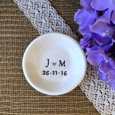 Personalized Ring Dish Simple & Elegant Wedding Ring Holder