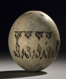 Isis tomb ostrich egg decorated with warriors